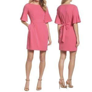 Eliza J NWT Hot Pink Bell Sleeve sheath Dress